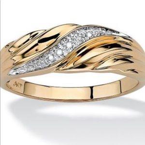 Men's 10k Diamond Accent Wedding Band Ring Size:13